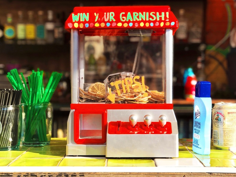 Photo of a fun tip machine