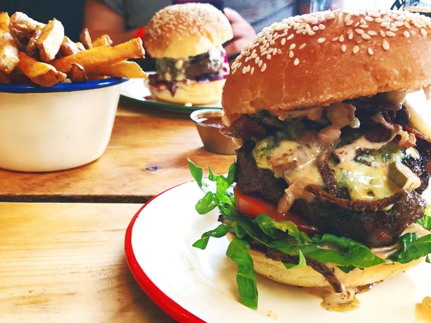 Photo of burger at Asado Bristol