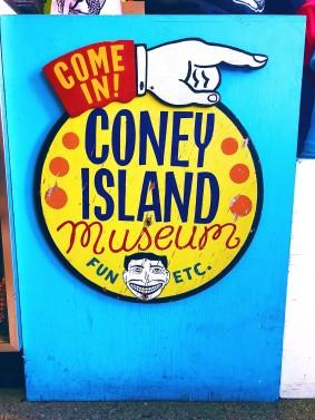 Photo of Coney island museum sign