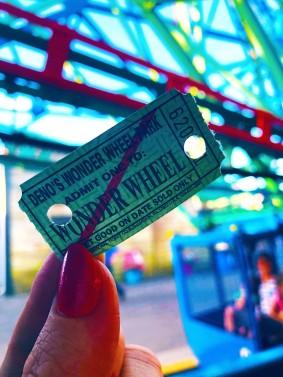 Photo of Wonder Wheel ticket Coney Island