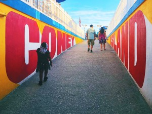Photo of Coney Island painting by Steve Powers ESPO