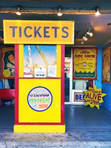 Photo of Coney Island Sideshow ticket booth